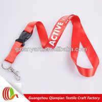cheap printed custom neck lanyard breakaway snap buckle hook