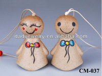 Bell pendant handmade ceramic bell pendant doll 2013 fashion style wedding bell with chinese characteristics