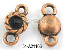 Antique copper tibetan style alloy jewelry connector