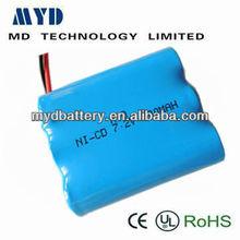 Prezzo di fabbrica di nichel cadmio batteria ricaricabile 120 mah 8.4v