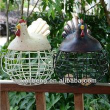 Metal crafts, zakka, egg basket, rooster shape, household adornment, restore ancient ways