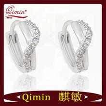 qimin Jewelry Round huggies earrings Gold/Silver/Brass