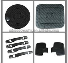 Plastic ABS Chrome Carbon Fiber Gas Door , Door Handle Covers , Mirror Cover For Pickup Trucks