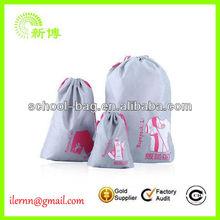 Easy carry non woven small drawstring bag