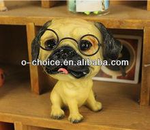 Antique resin face sculpture lovable dog