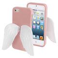 Recomendo o mais novo caso de tpu para o iphone 5s& 5 atraente branco e asas de anjo estilo( rosa)