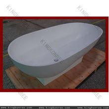 Solid surface model bathtub freestanding bathtub stone