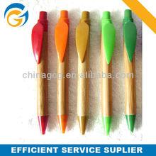 2013 Wood Barrel Click Color Clip Ball Point Pen