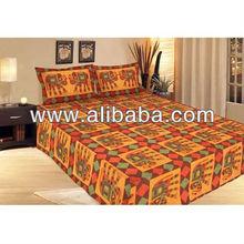 Jaipuri Pure Cotton 3 Piece Double Bed Sheet