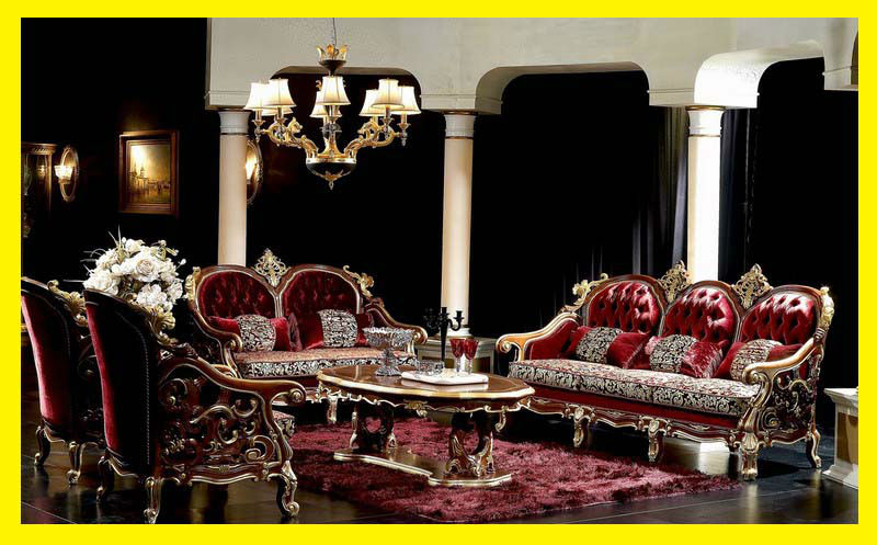 Elegant living room royal design fabric sofa set top quality italian style luxury sofa set - Add luxurious look home royal sofa living room ...