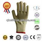 QL Hot sale Kevlar gloves EN 388 aramid terry gloves cut resistant