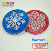 Walmart Approved Round Snowflake Gift Cards Packaging Tin Box