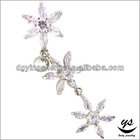 Purple sunflower vibrating navel ring crazy nickel free belly button rings
