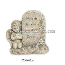 nuevo diseño de resina orando angel barato losa de lápidas