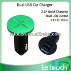 Unique Dual USB used car battery charger sale 2.1A for iPhone/for iPad/for Samsung