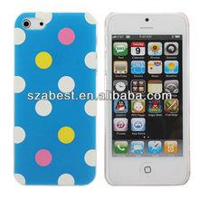 Polka Dot Series Embossed For iPhone 5 Hardshell PC Case