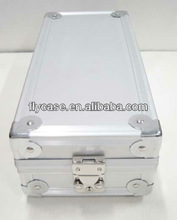 Silver aluminum jewelry case for rings and bracelet