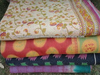 Vintage cotton sari Blanket
