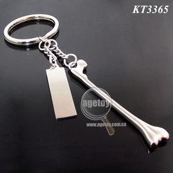 Alloy Keychain Dog Bone Shape Promotional Gift