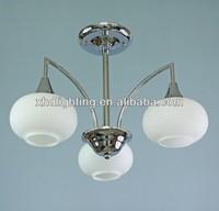 White glass ceiling lamp modern lighting fixture