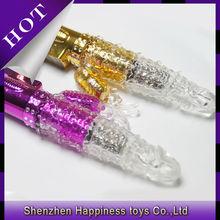 Japanese Silicone Adult Sex Doll Gold Rabbit Vibrator