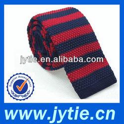 Red & Navy Silk Knit Tie