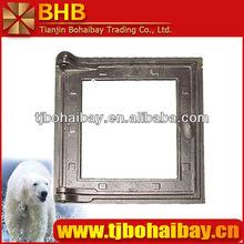 BHB Transparent glass cast iron fireplace doors
