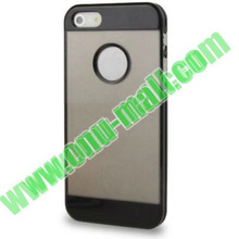 Plastic Transparent Style for iPhone 5S Double Color Case