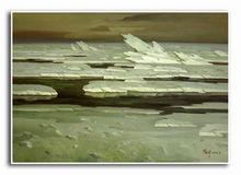 handmade nature rock landscape oil paintings