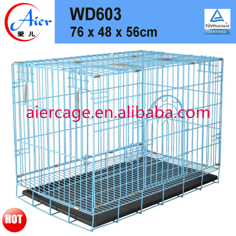 Factory outlets pet friendly large dog crate