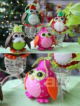 owl christmas ball decorations