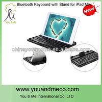 Popular detachable bluetooth keyboard case for ipad mini