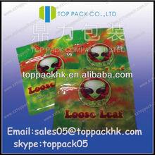 Customized 3g Loose Leaf bag/Foil lined ziplock herbal bags/hot sale potpourri bags