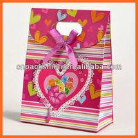 Festive wedding paper bag with Heart shape design