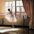 ballet perna da pressão de mão pintado pinturas a óleo