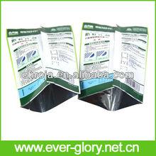 China OEM Manufacturer Euro Hole Plastic Mylar Foil Self Sealing Mylar Bags