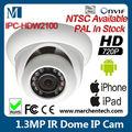 Billige netzwerk kamera 1.3 ipc-hdw2100 megapixel cmos mini ir dome poe ip kamera iphone ipad telefon verwenden