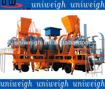 30ton doube roller mobile asphalt mixting batching station