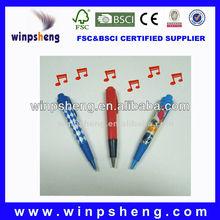 promotional christmas ballpoint pen/christmas music pen