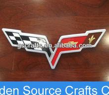 chromed silver chevrolet auto car logo sticker emblem