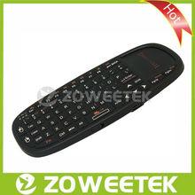 Più caldo 2013 2.4g mini tastiera senza fili arabo google con touchpad