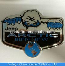 chromed plated silver customized car logo sticker emblem