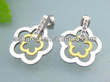 Aliexpress Jewellery Flower Stainless Steel Earrings