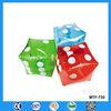 Plastic toy dice, transparent PVC inflatable plastic toy dice