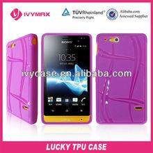 purple TPU soft case cover for sony xperia go ST27i