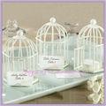 primavera canções chá luz titular do cartão lugar branco gaiolas de pássaro decorativas atacado