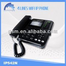 4 line voip phone wifi sip desk phone