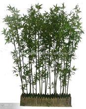 Venta al por mayor artificial verde jardín decorativas de bambú