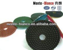 Dry and wet granite polishing pad