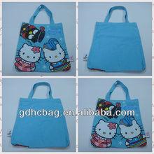 Lovely CARTOON Hello Kitty BLUE reusable Handled Shopping Bags